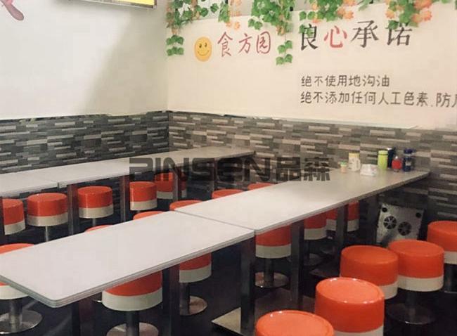 食方园自选快餐厅桌椅定制