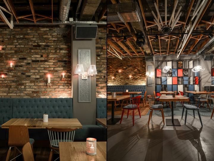 品森家具与美国复古风格的罗马尼亚小屋餐厅家  具定制设计空间欣赏