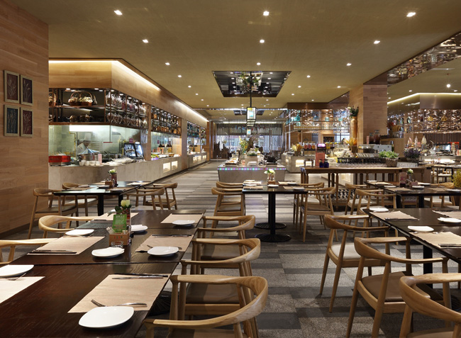 品森家具与深圳南山区食全食美自助餐  定制设计空间欣赏