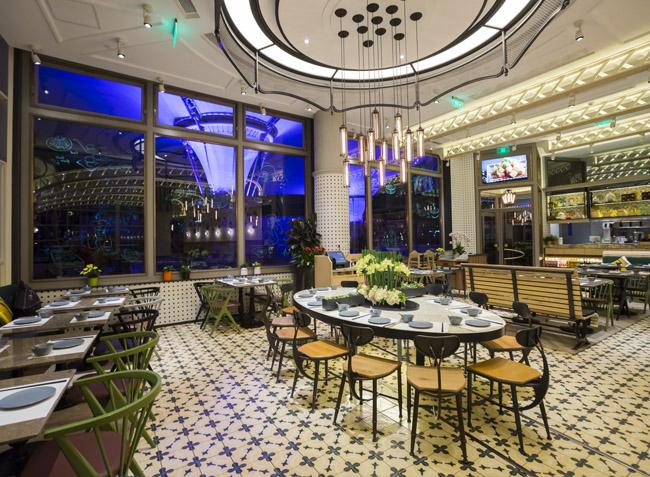品森家具与上海-花悦小馆  桌椅定制案例