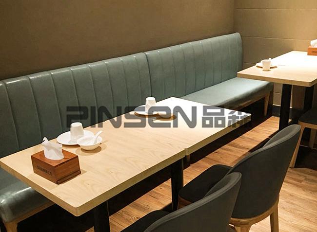 品森家具与深圳-安天民饺子馆桌椅定制案例