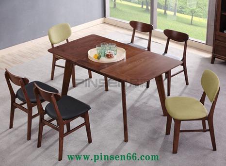 北欧实木餐桌6