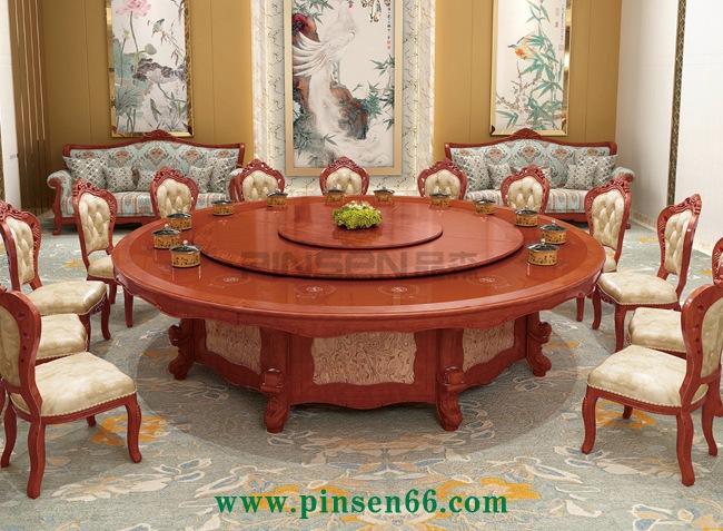 实木电动火锅餐桌
