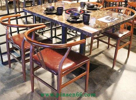 厂直销大理石电磁炉火锅桌椅