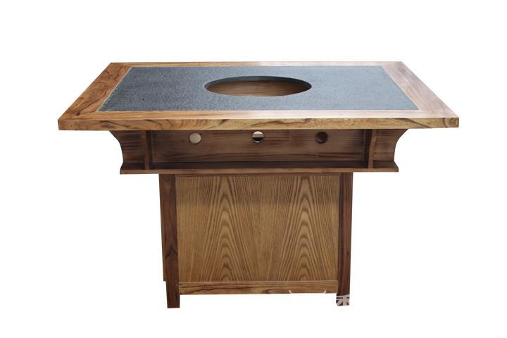 厂家直销实木仿古火锅桌椅组合 长方形液化气柜