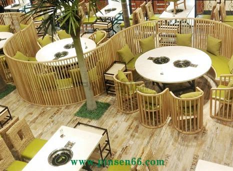 白色大理石火锅桌椅组合餐饮厂家定制