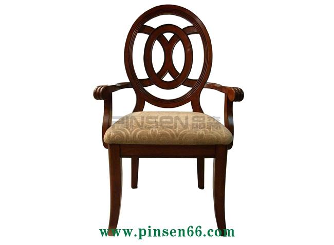中式实木软包火锅椅