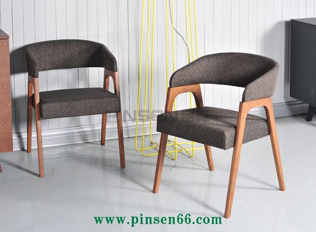 北欧实木软包现代简约火锅椅