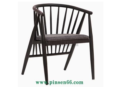 北欧美式温莎椅餐厅椅仿实木围椅铁皮椅洽谈酒