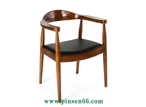 简约实木椅子宜家餐椅肯尼迪总统椅咖啡椅家用