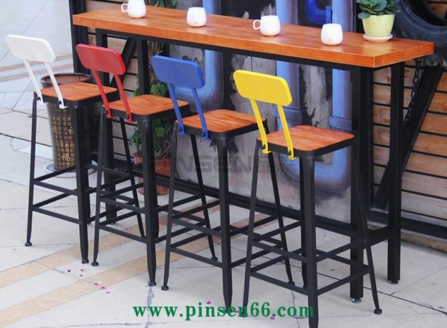 星巴克吧台桌椅餐厅桌高脚凳酒吧咖啡厅吧台桌