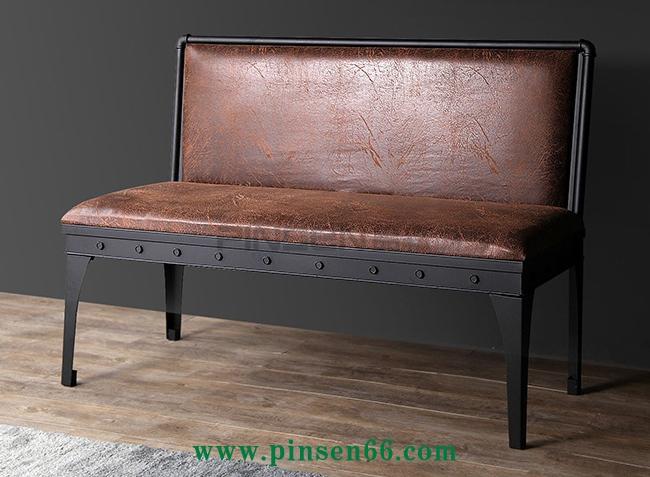 美式工业风铁艺椅酒吧双人沙发椅咖啡厅餐厅沙发卡座