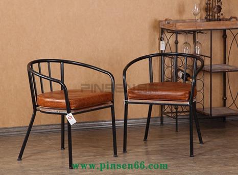 欧式家居客厅简易时尚餐椅 家具酒店铁艺实木休