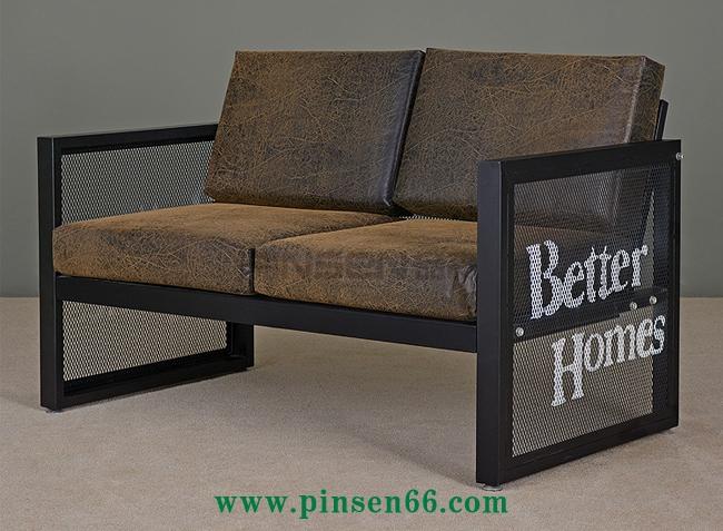 复古工业  风铁艺沙发酒吧咖啡厅餐桌椅卡座沙发