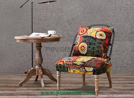北欧单人沙发椅子loft布艺拆洗铁艺复古美式乡村