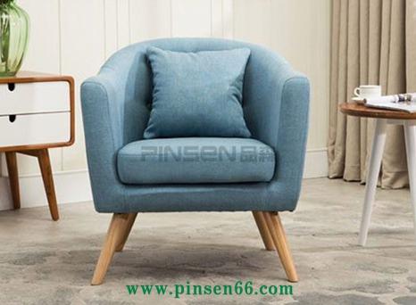 北欧简约现代新款单人布艺洽谈座椅休闲咖啡厅