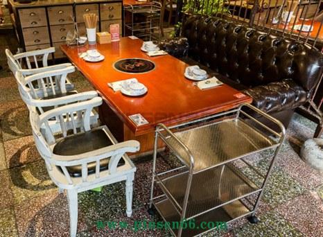 汕头八合里牛肉实木火锅桌