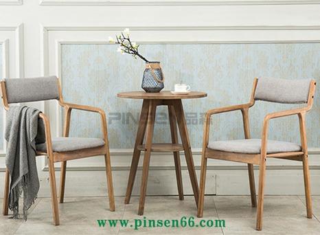 火锅店复古实木椅子 现代简约餐椅