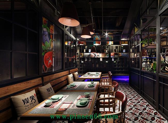 (炭舍KKone店)美式乡村风主题西餐厅桌椅