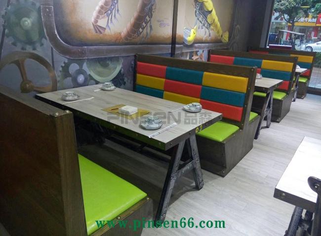 (虾皇)主题复古loft铁艺餐桌椅