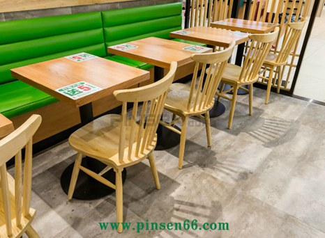 客家粥实木桌椅