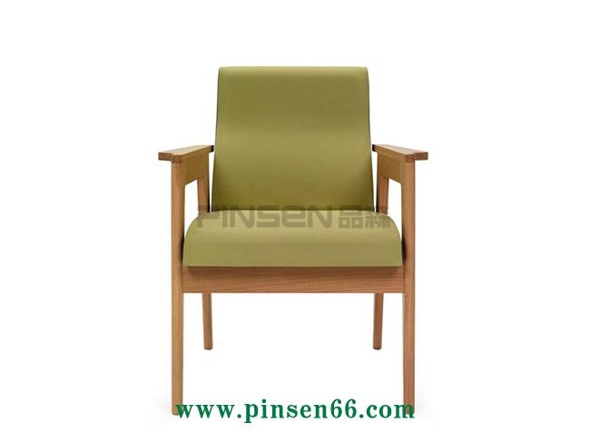 北欧实木软包主题餐椅003