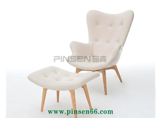 北欧实木主题咖啡餐椅005