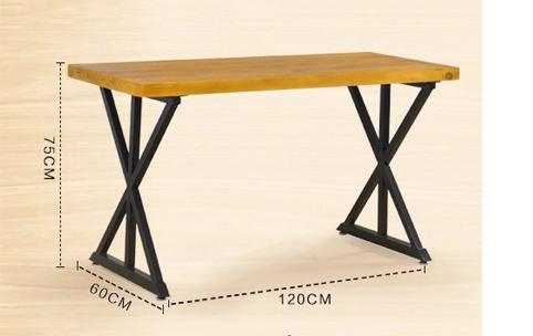 实木桌椅铁艺桌居家室内桌餐馆餐饮桌酒吧咖啡店桌FGZ007