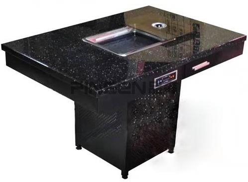 印花大理石火锅桌椅