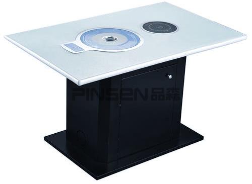 大理石电磁炉自助火锅烤肉一体桌