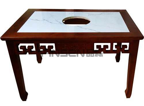 大理石火锅桌