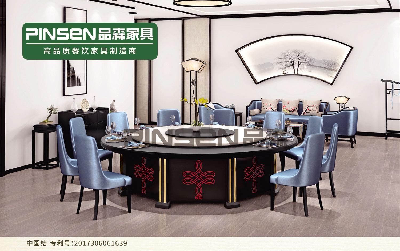 实木 大理石餐厅电动餐桌椅组合