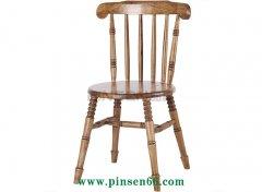 复古实木餐椅 美式实木温莎椅 咖啡厅 休闲靠背