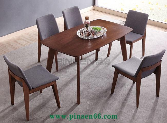 简约风实木西餐厅桌椅