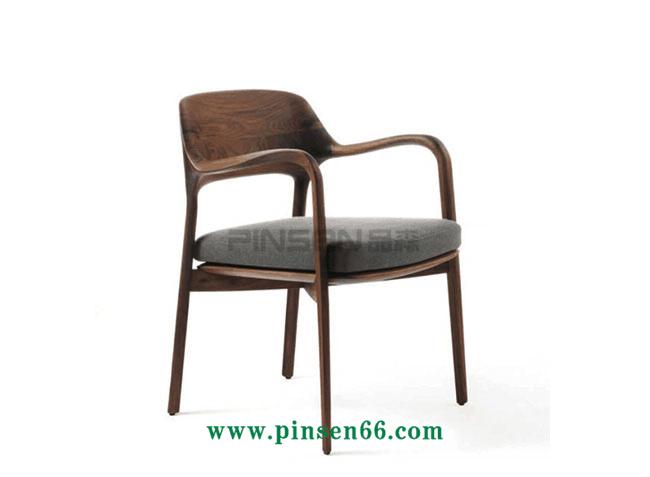 实木软包扶手餐厅桌椅