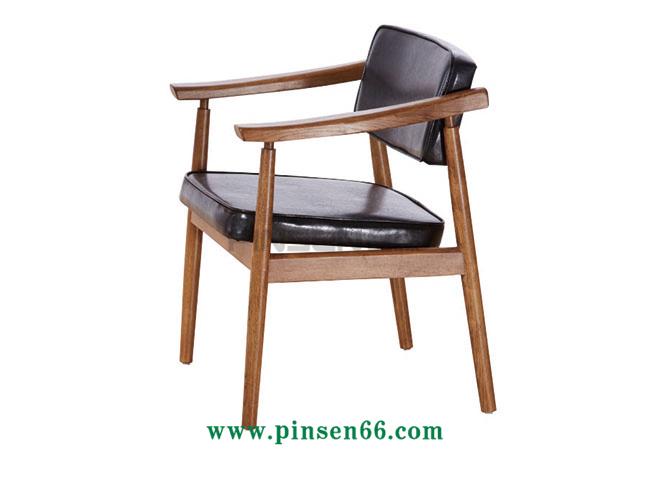 实木软包靠垫餐椅