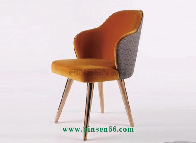 欧式软包餐椅