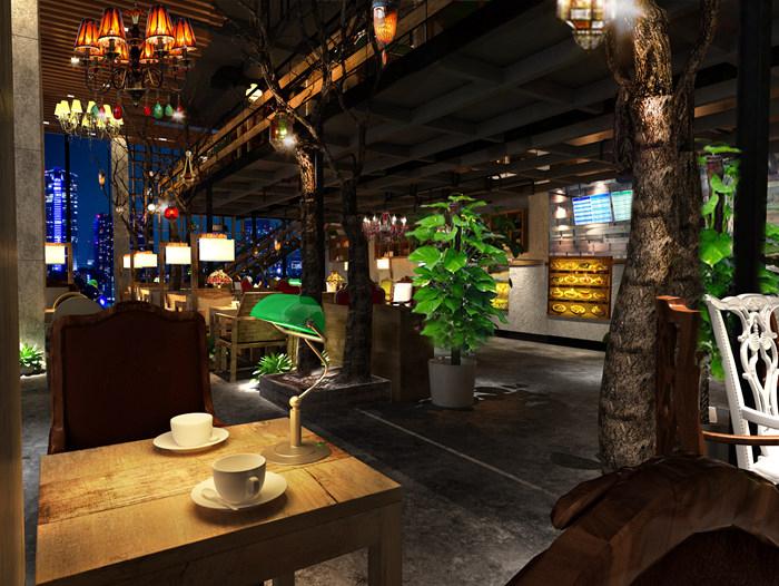 漫咖啡专属咖啡厅家具定制