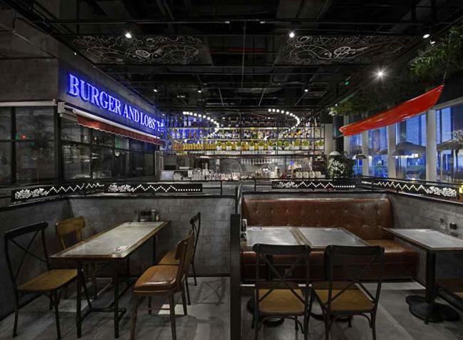 海岸城小龙虾餐厅家具定制设计欣赏
