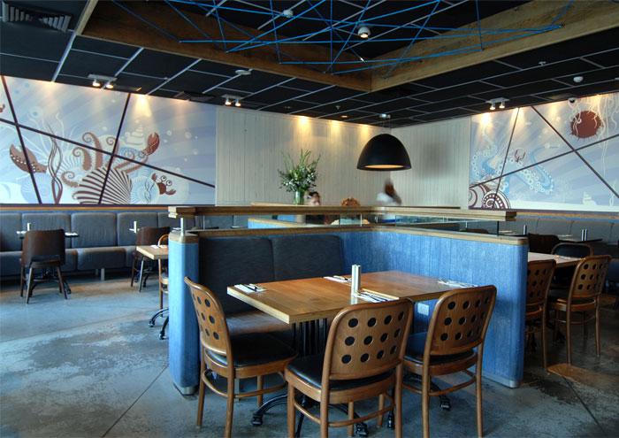 以色列复古风格的海鲜餐厅家具定制