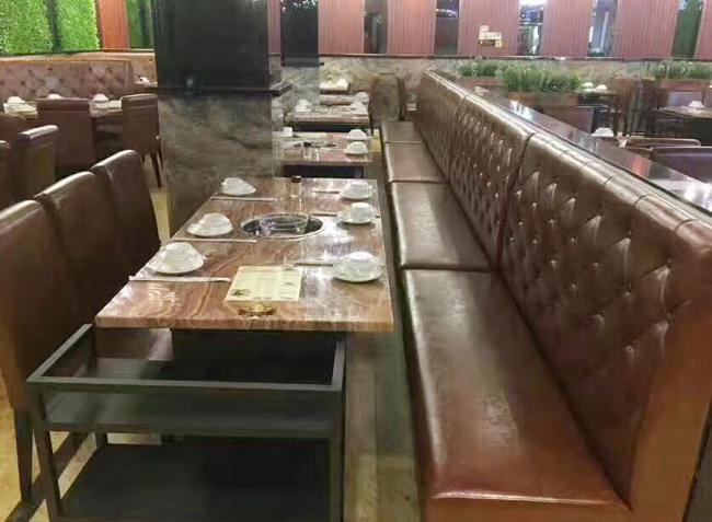 品森家具与潮汕牛肉火锅桌椅定  制案例