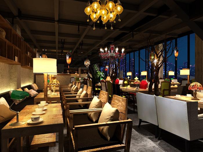 漫咖啡(深圳)-咖啡馆餐桌椅卡座定制案例