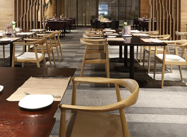 品森家具与深圳南山区食全食美自助餐定制设计空间欣赏