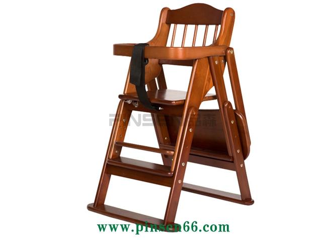 时尚伸缩实木儿童BB餐椅