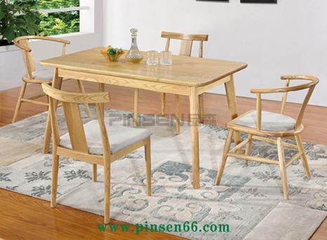 北欧实木餐桌椅17