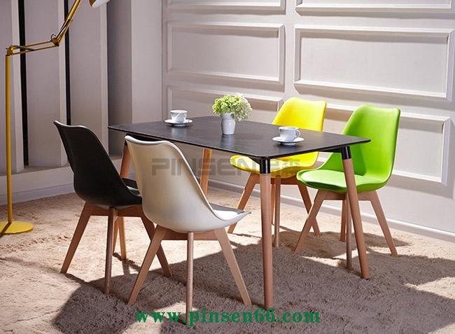 休闲吧椅西餐咖啡实木餐桌椅
