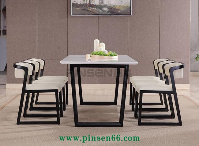简约实木西餐厅桌椅组合