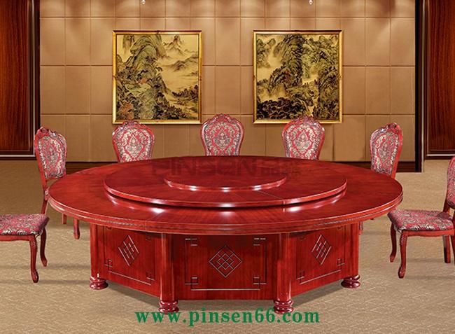 豪华实木电动餐桌