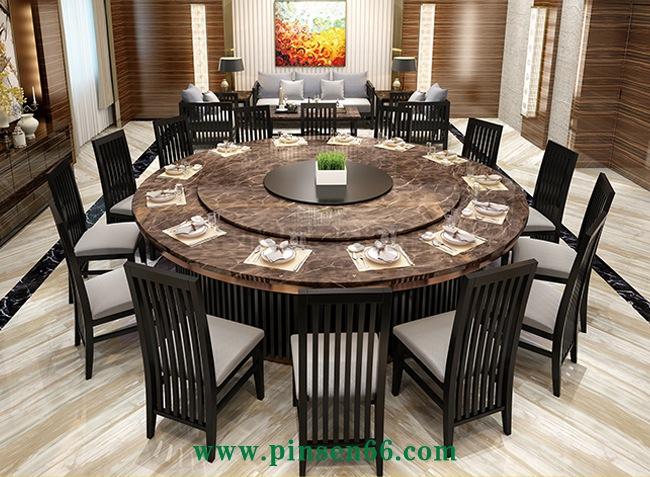 豪华大理石电动餐桌
