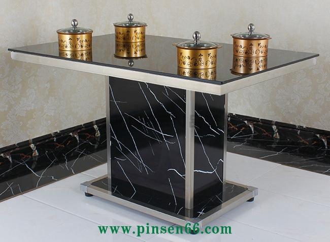 钢化玻璃一人一锅火锅桌
